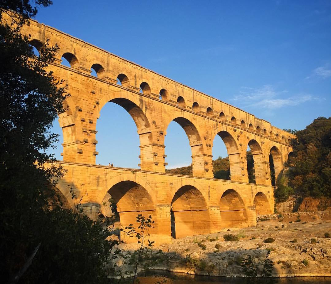 Pont du Gard, a Roman aqueduct bridge near Nîmes, France