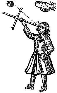 "Cross-staff (or Jacob's staff), from ""Practical Navigation"" by John Sellers (1669)"