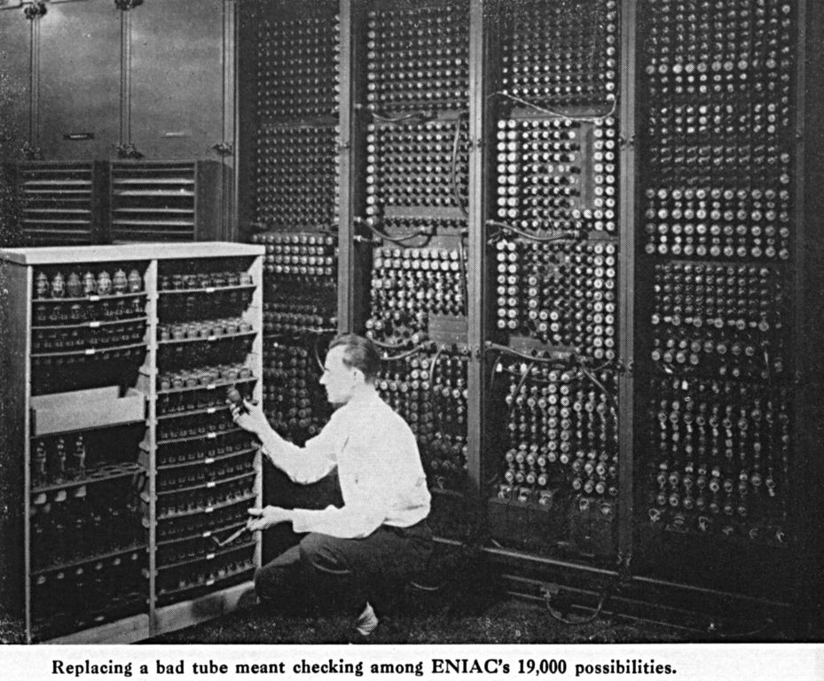 Changing a tube on the ENIAC