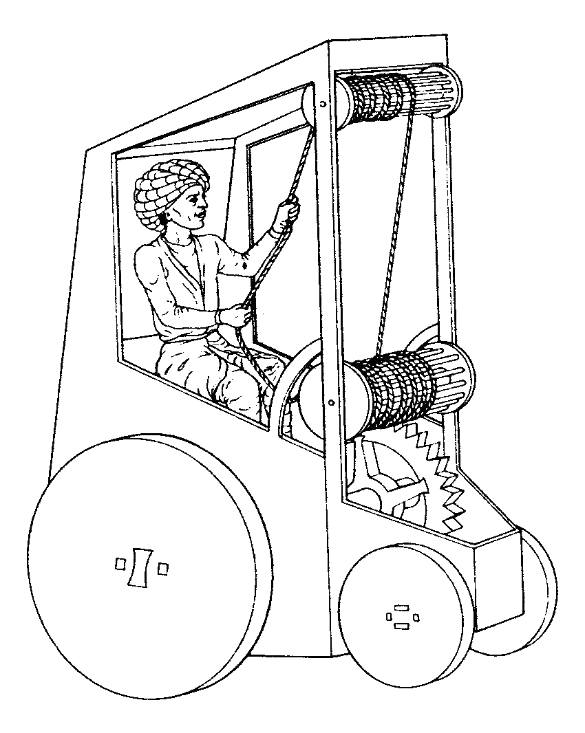 Giovanni Fontana's self-driving carriage