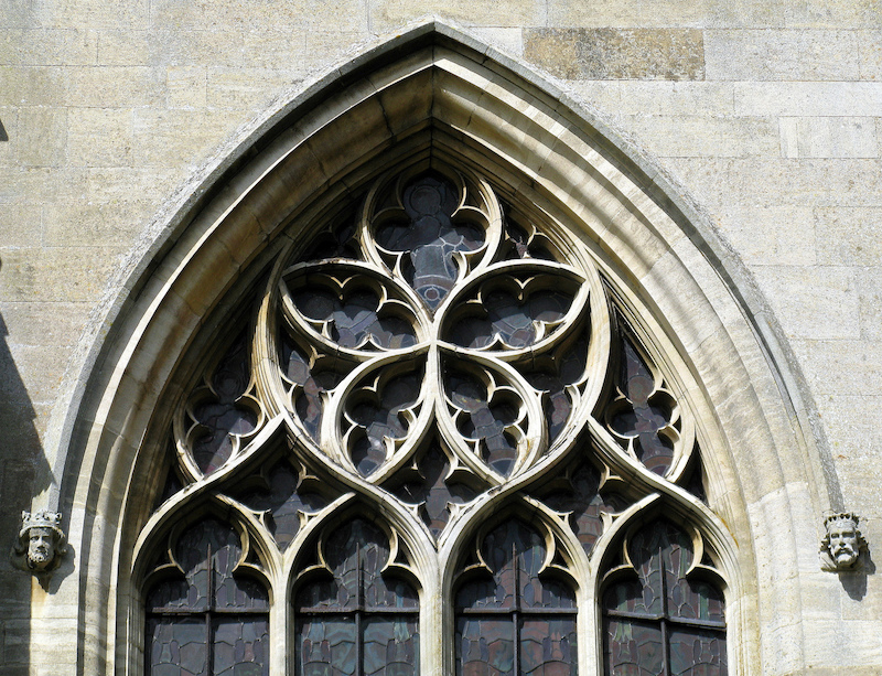 Gothic window, Church of St. Helen, Lincolnshire, England