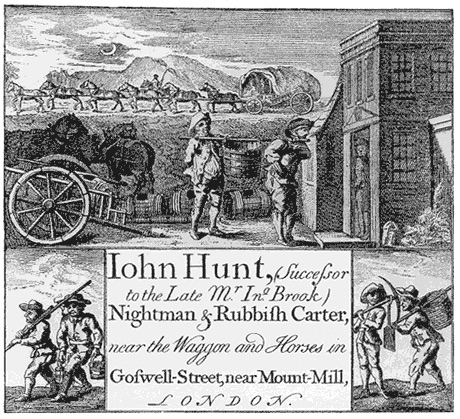 Card of a night soil collector, 1700s