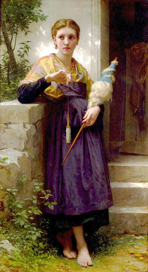 The Spinner, by William-Adolphe Bouguereau